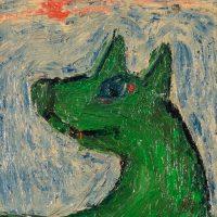 """O Lobo"", óleo sobre tela, 15x20cm [INDISPONÍVEL / UNAVAILABLE]"