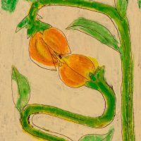 """""""A Flor II"""", óleo sobre tela, 18x25cm [INDISPONÍVEL / UNAVAILABLE]"""