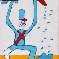 """""""O Soldadinho de Chumbo com Prótese de Plástico"""", acrílico sobre tela, 10x15cm [INDISPONÍVEL / UNAVAILABLE]"""