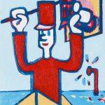 """""""O Soldadinho e o Submarino"""", Acrílico sobre tela, 10x15 cm"""