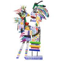 """Pássaro a Beijar"", 2016, Madeira pintada, metal, objectos encontrados, 47x73x10cm [INDISPONÍVEL / UNAVAILABLE]"