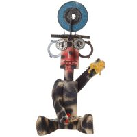 """""""A Gaita do Boneco Camuflado"""", 2016, Madeira, tintas, metal, plástico, 21x52x22 cm [INDISPONÍVEL / UNAVAILABLE]"""