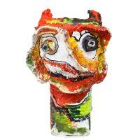 """Carla Gonçalves, """"Diabo Deforme"""", 2017, Plástico, pasta de papel, tintas, 15x28x15cm [INDISPONÍVEL / UNAVAILABLE]"""