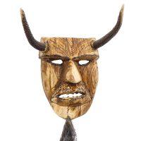 Tozé Vale, Máscara Diabo Chifres, 2015, V.B. Ousilhão, Madeira, chifres e pêlo