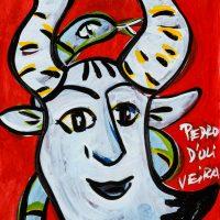 """Pedro d'Oliveira, """"Fauno com Maçã e Serpente 4"""", 2016, Acrílico sobre papel, 15x21 cm"""