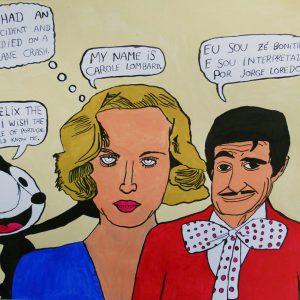 """""""Zé Bonitinho, Carole Lombar e Felix the Cat"""", Filipe Cerqueira, 2015"""