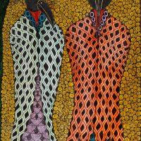 """Sem título"", Série Arterapia, 2003-2014, artpen e verniz de vitral sobre papel, 34x42cm [INDISPONÍVEL / UNAVAILABLE]"