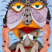 """Sem título"", Série Arterapia, 2003-2014, Artpen e verniz de vitral, 34x42 cm [INDISPONÍVEL / UNAVAILABLE]"