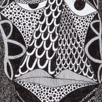 """Sem título"", Série Arterapia, 2003-2014, artpen sobre papel, 34x42cm [INDISPONÍVEL / UNAVAILABLE]"
