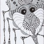 """Sem título"", Série Arterapia, 2003-2014, Artpen sobre papel, 34x42 cm"