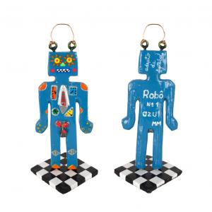 Robô nº1, EME, 2016, Pasta de papel, tintas e metal