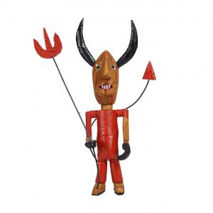 """""""Diabo"""", Porfírio Mendes, 2016, Rolhas de cortiça, tinta acrílica"""