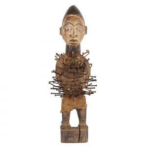 """""""Estatueta Fetiche"""", Nkisi Nkondi, R.D. Congo, Séc. XX"""