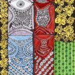 """Sem título"", Série Psico-afroliberdélia, 2017, Artpen e verniz de vitral, 34x42 cm [INDISPONÍVEL/UNAVAILABLE]"