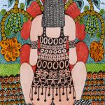 """Sem título"", Série Psico-afroliberdélia, 2017, Artpen e verniz de vitral, 34x42 cm [INDISPONÍVEL / UNAVAILABLE]"