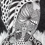 """Sem título"", Série Psico-afroliberdélia, 2015, Artpen, 46x60cm [INDISPONÍVEL / UNAVAILABLE]"