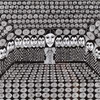 """Sem título"", Série Psico-afroliberdélia, 2017, Artpen, 42x34cm [INDISPONÍVEL / UNAVAILABLE]"