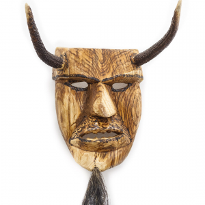 """""""Máscara dos Caretos de Trás-Os-Montes"""", Tozé Vale, 2015, Madeira, chifres e pêlo"""