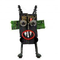 """""""Robô de Orelhas Verdes"""", 2017, madeira, tintas, outros, 33x50x13cm [INDISPONÍVEL/UNAVAILABLE]"""