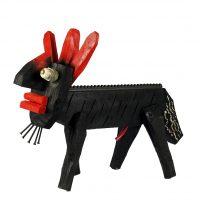 """""""Cão de 3 Orelhas"""", 2017, madeira, tintas, outros, 41x32x19cm [INDISPONÍVEL/UNAVAILABLE]"""