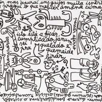 """""""Desparates Istrabagantes e Sem Nequesso"""", 2017, esmalte sobre tela, 100x90cm [INDISPONÍVEL/UNAVAILABLE]"""