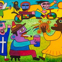 """A Romaria"", 2017, óleo sobre tela, 100x90cm [INDISPONÍVEL/UNAVAILABLE]"