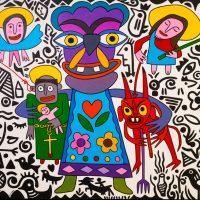 """""""O Céu, a Terra e o Inferno"""", 2017, óleo sobre tela, 100x90cm [INDISPONÍVEL/UNAVAILABLE]"""
