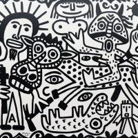 """O Cavaleiro do Apocalipse"", 2017, esmalte sobre tela, 100x90cm [INDISPONÍVEL/UNAVAILABLE]"