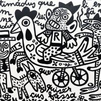 """""""Bunécus Lindus"""", 2017, esmalte sobre tela, 100x90cm [INDISPONÍVEL/UNAVAILABLE]"""