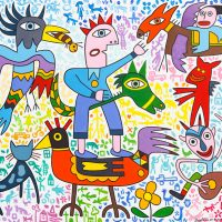 """Diabolices"", 2017, óleo sobre tela, 100x90cm"