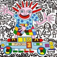 """Taxista Surrealista"", 2017, óleo sobre tela, 100x90cm [INDISPONÍVEL/UNAVAILABLE]"