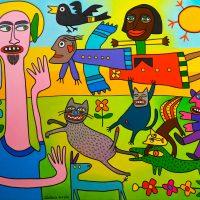 """""""Santo do Pescoço Longo"""", 2017, óleo sobre tela, 100x90cm [INDISPONÍVEL/UNAVAILABLE]"""