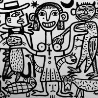 """""""A Animalista"""", 2017, esmalte sobre tela, 100x90cm [INDISPONÍVEL/UNAVAILABLE]"""