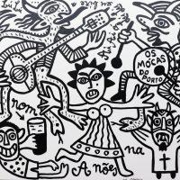 """""""Os Mócas do Porto"""", 2017, esmalte sobre tela, 100x90cm [INDISPONÍVEL/UNAVAILABLE]"""