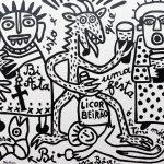 A Bi Áta do Licor Beirão, 2017, Esmalte sobre tela, 100x90cm [INDISPONÍVEL/UNAVAILABLE]