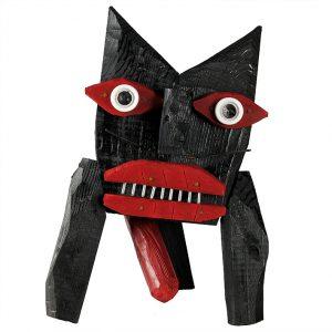 """Gato Dálice"", 2017, madeira, tintas, diversos, 26x40x20cm [INDISPONÍVEL/UNAVAILABLE]"