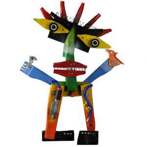 """Cristo Justiceiro"", 2017, madeira, tintas, diversos, 35x46x12cm [INDISPONÍVEL/UNAVAILABLE]"