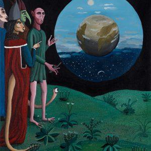 """""""Detonador Mundis"""", 2018, Acrílico sobre tela, 39x46 cm"""