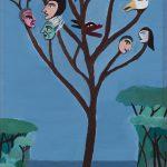 Árvore das Personalidades, acrílico sobre madeira, 20x35cm [INDISPONÍVEL/UNAVAILABLE]