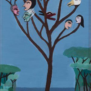 """""""Árvore das Personalidades"""", Acrílico sobre madeira, 20x35 cm [INDISPONÍVEL/UNAVAILABLE]"""