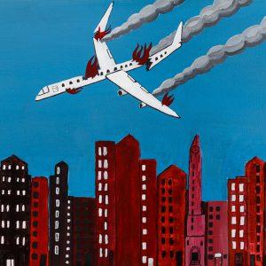 """""""Avião"""", 2016, Acrílico sobre tela, 60x40 cm [COLECÇÃO CRUZES CANHOTO]"""
