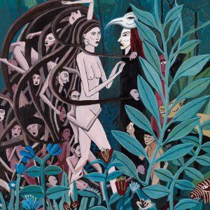 """Medusa na Floresta"", acrílico sobre tela, 40x50cm [INDISPONÍVEL/UNAVAILABLE]"