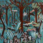 """""""Selva (Ciclo da Vida)"""", Acrílico sobre tela, 60x60 cm"""
