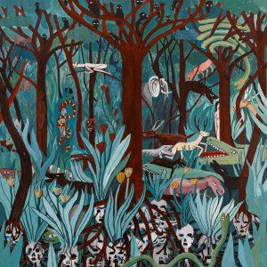 """""""Selva (Ciclo da Vida)"""", acrílico sobre tela, 60x60cm"""