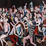 """""""Dancemania"""", Acrílico sobre tela, 95x95 cm"""