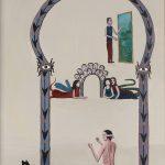 Sala de Espelhos, acrílico sobre tela, 30x45cm