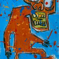 """""""Deshumanizados nº4"""", 2013, Acrílico sobre papel, 21x30 cm [INDISPONÍVEL/UNAVAILABLE]"""