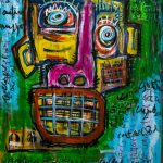 """Deshumanizados nº019"", Acrílico sobre madeira, 61x81 cm [INDISPONÍVEL/UNAVAILABLE]"