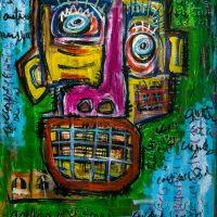 """Deshumanizados nº19"", 2014, Acrílico sobre madeira, 61x81 cm [INDISPONÍVEL/UNAVAILABLE]"