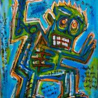 """Deshumanizados nº20"", 2014, Acrílico sobre madeira, 61x81 cm [INDISPONÍVEL/UNAVAILABLE]"
